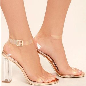 Clear Rose Gold Heels